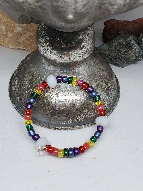 Kid's Rainbow Beaded Bracelet