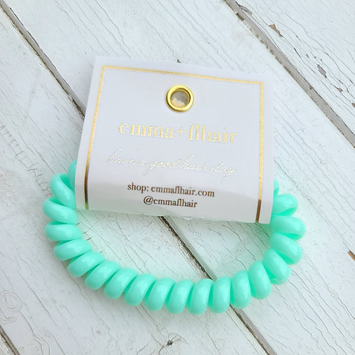 Coil Hair Tie - Glossy Mint