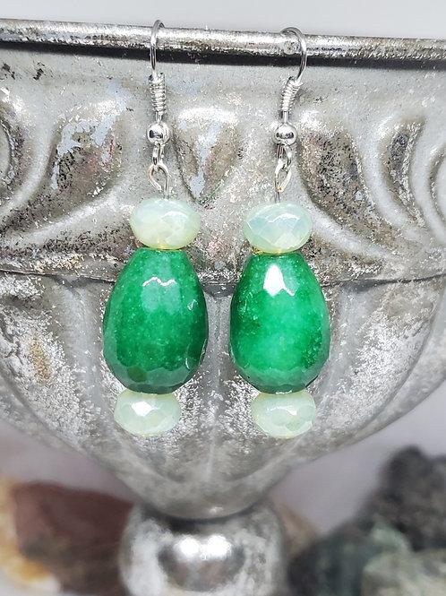 True Green & Light Green Beaded