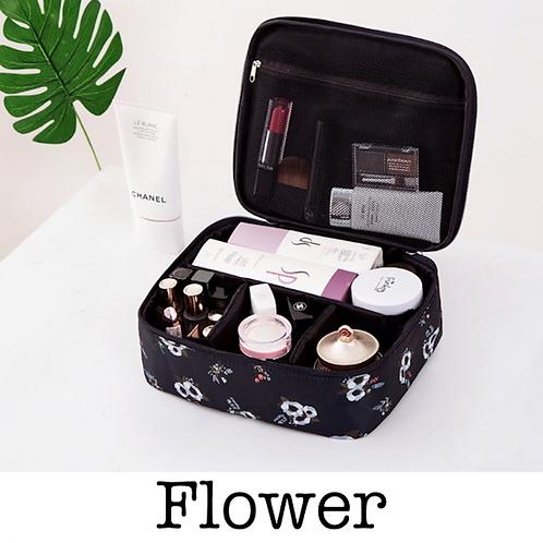 Everyday Cosmetic Bag - Black Flower