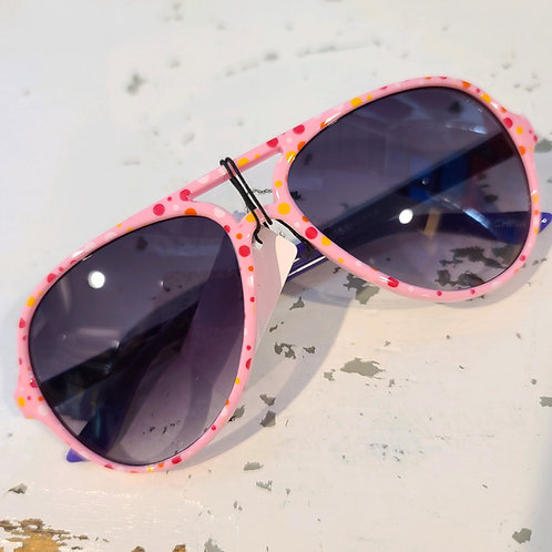 Kids' Polka-Dot Aviator Sunnies - Pink Rims