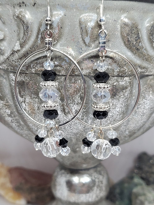 Black, Silver, and Clear Crystal Beads
