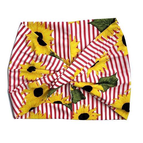 Wide Headband - Yellow Sunflower