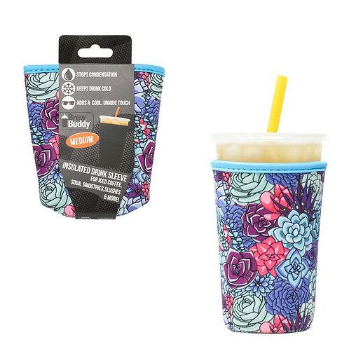Insulated Drink Sleeve -  Succulent MEDIUM