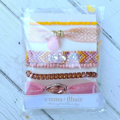 Saharan Jewels - Hair Tie Bracelet Stacks