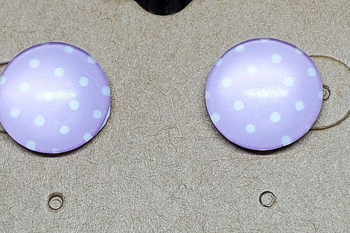 Lavender with White Polka Dots Posts