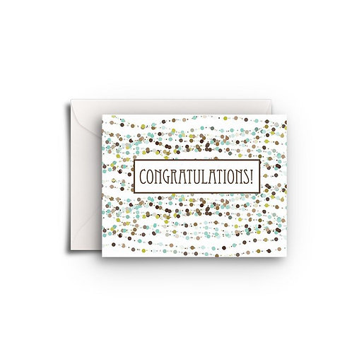 Small Greeting Card - Sparkle Congratulations
