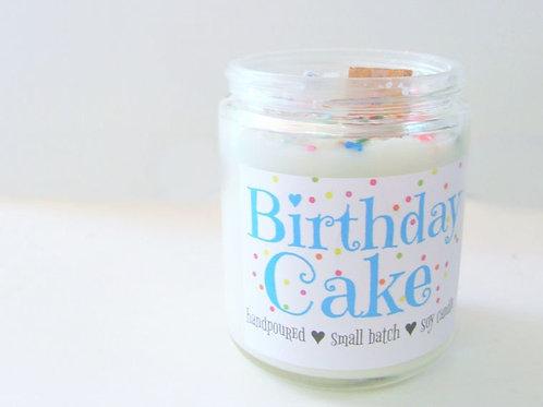 Birthday Cake - 8 oz Wood-Wick Soy Candle