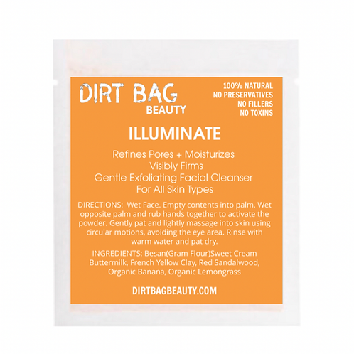 Dirt Bag Beauty Exfoliating Face Cleanser - Illuminate