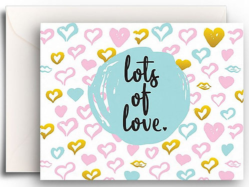 Small Greeting Card - Lots of Love