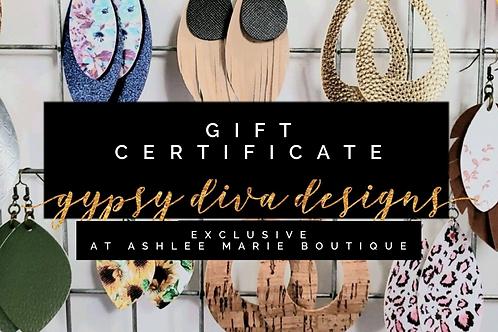 Gypsy Diva Design Gift Certificate