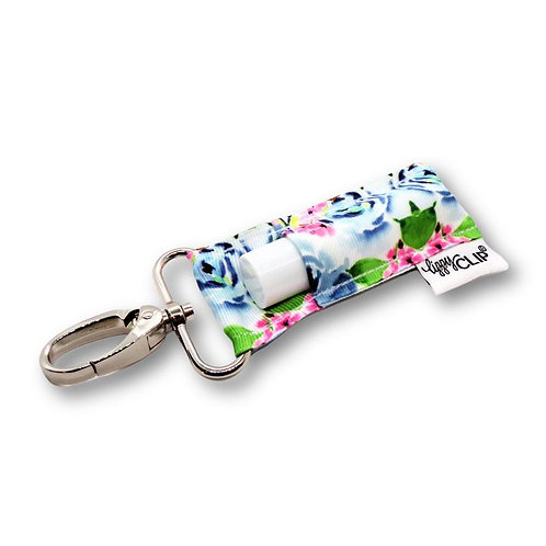 Dusty Blue Floral Lippy Clip