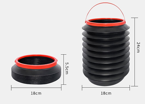 Multi-Function 4L Collapsible Water Bucket