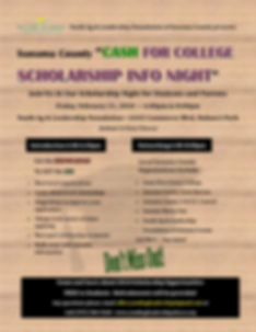 Cash for College-Scholarship Info Night.
