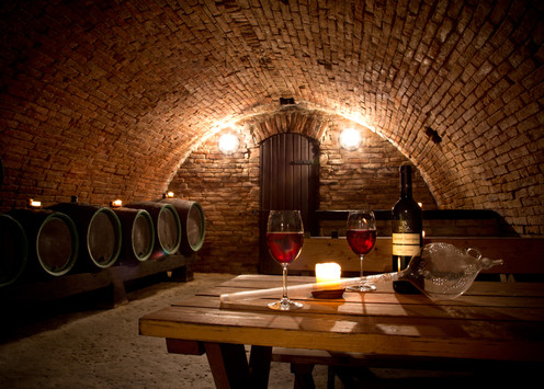 Close-up of interior in a wine cellar.jp