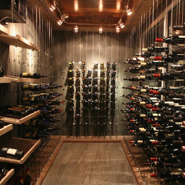 cable wine system custom wine cellar cum