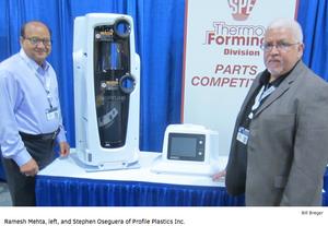 Ramesh Mehta, left, and Stephen Oseguera of Profile Plastics, Inc.