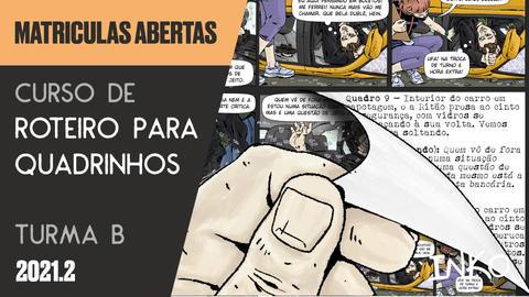 Curso de Roteiro para Quadrinhos com Pacha Urbano - Turma B (Ter 20h)