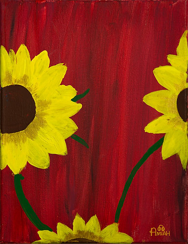 """Sunflowers at Dawn"""