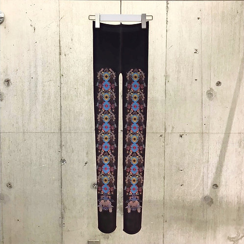 Purple Night blooming cereus Tights
