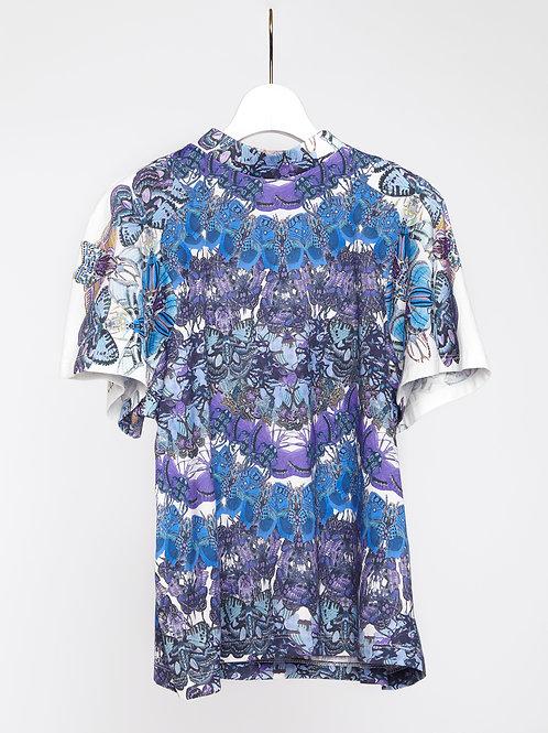Lepidoptera raglan sleeve T-shirt - Blue