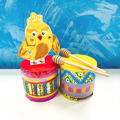 阿妹的夢想舞台C款 - 鼓+金色小鳥