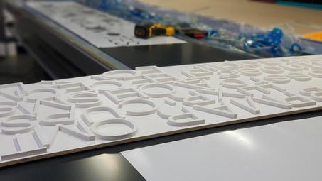 Enseigne lettrage 3D