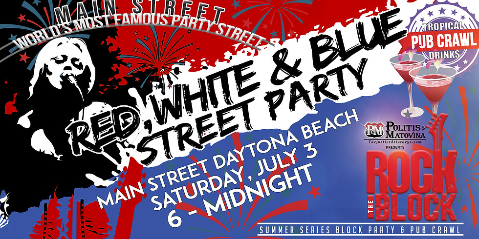 🇺🇸Red, White, & Blue Pub Crawl and Street Party🎆