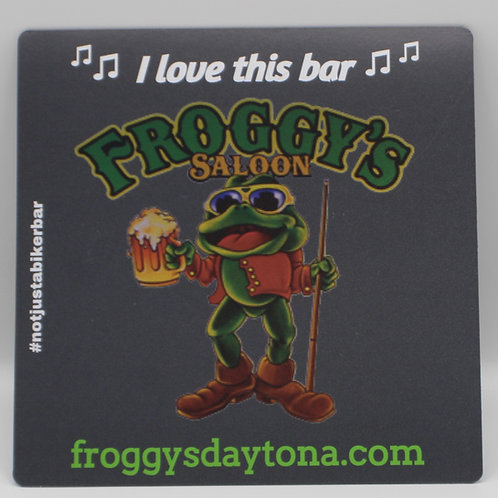 """Froggy's Magnet """"I love this bar"""" (5"""" x 5"""")"""