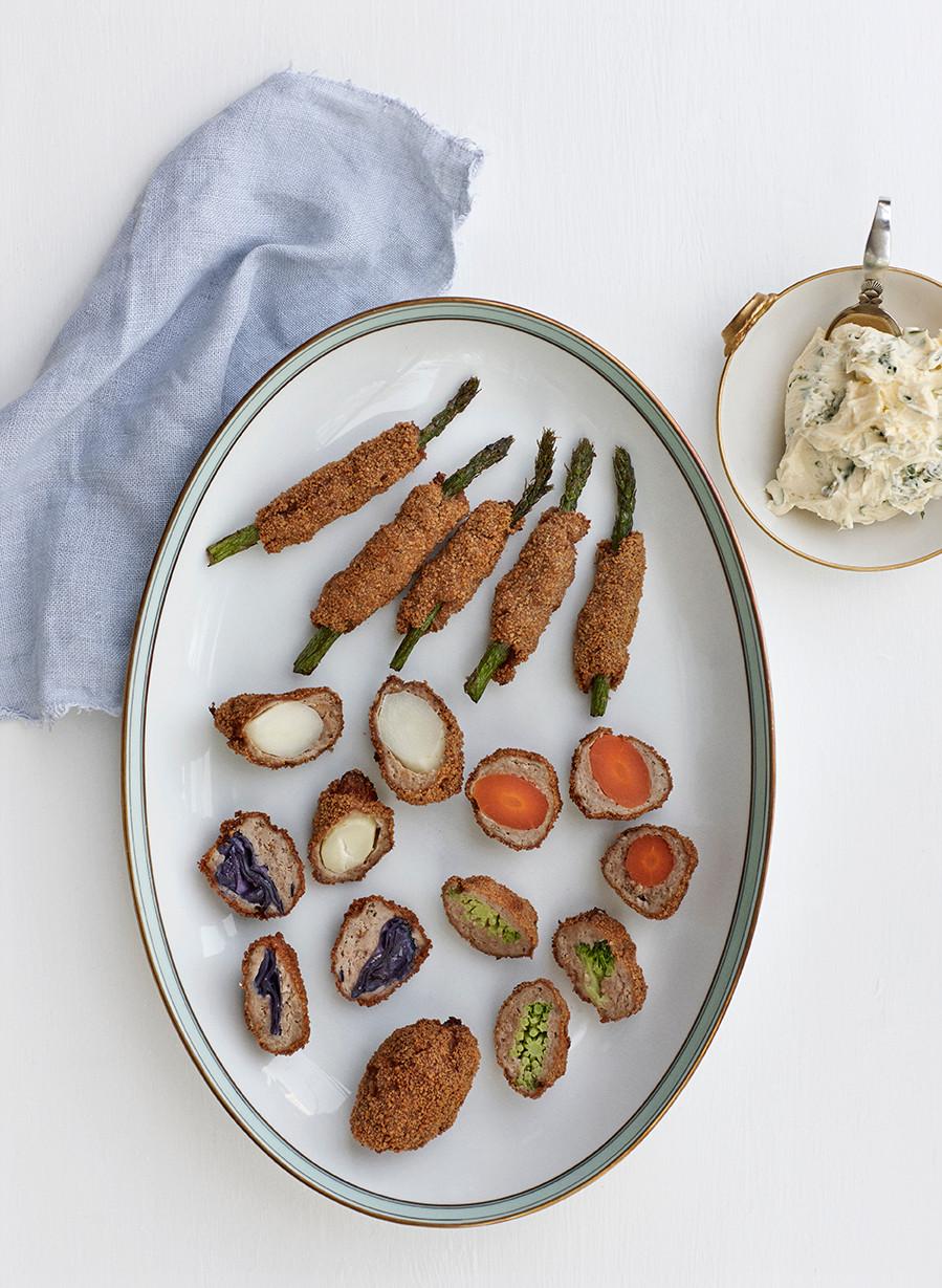 Farserede grøntsager 1900 Til bords Hannah Lund