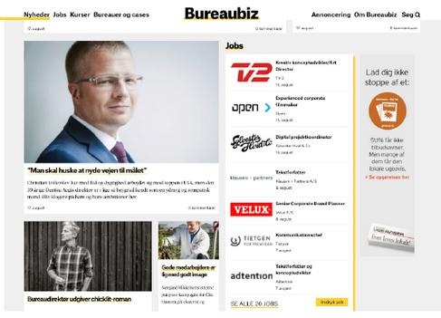 Bureaubiz om Mikkel Jønsson og UDSPRING på forsiden