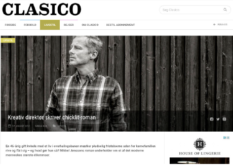 Clasico om Mikkel Jønsson og UDSPRING på forsiden