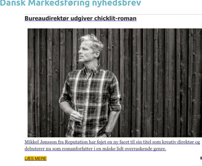 Markedsføring om Mikkel Jønsson og UDSPRING i nyhedsbrev