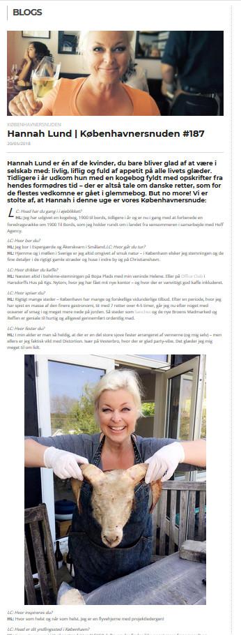 LoveCopenhagen artikel om Hannah Lund