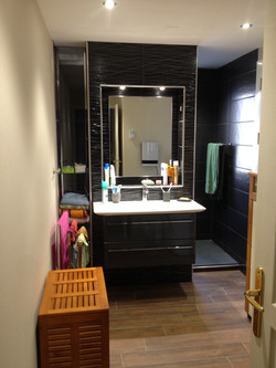 Salle de bain/Noir/Monochrome