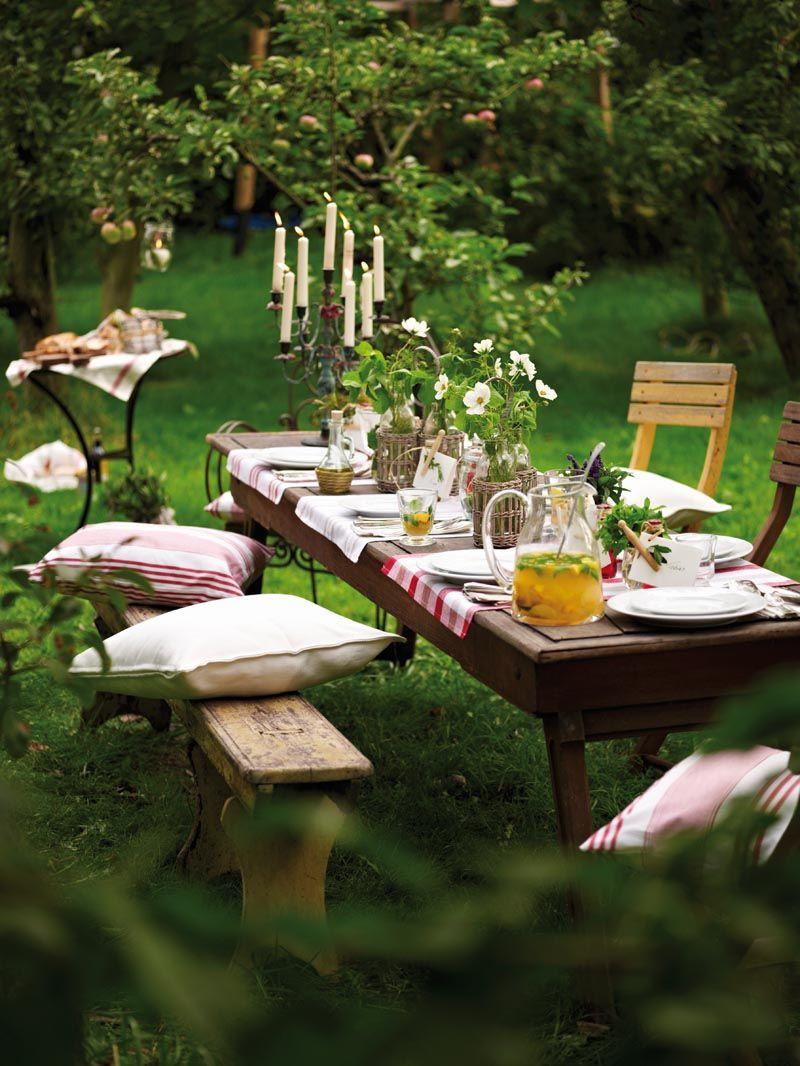 table champetre - deco de table - java blog deco