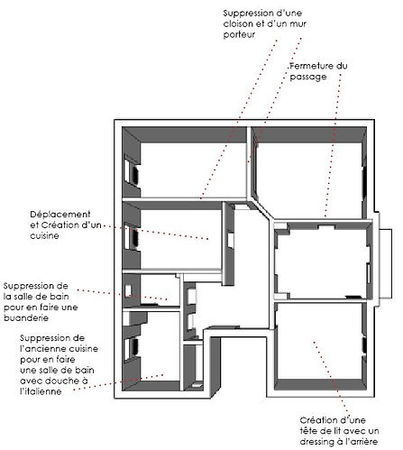 plan-avant-renovation-sketchup-architecte-d'interieur-alsace