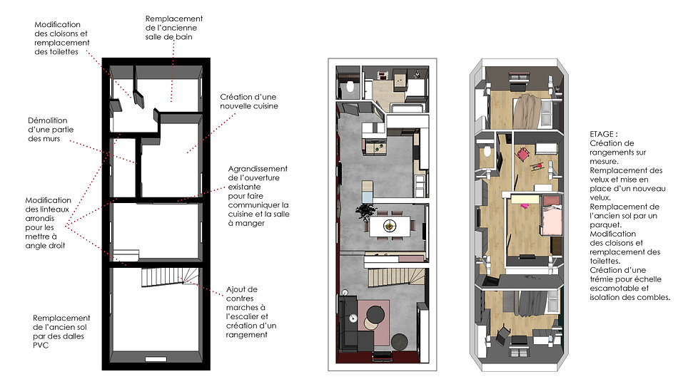Rénovation/ Maison/ bâtiment ancien/ architecte d'intérieur/ Java decorateurs