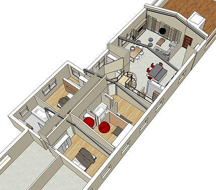 Batiment agricole/Renovation/Constructeur/Loft/Alsace/Architecte d'interieur/Agencement/Java decorateurs