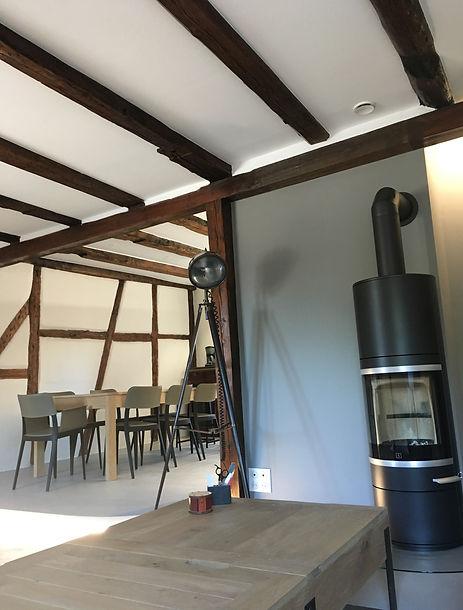 cheminee salon salle a manger apres la renovation