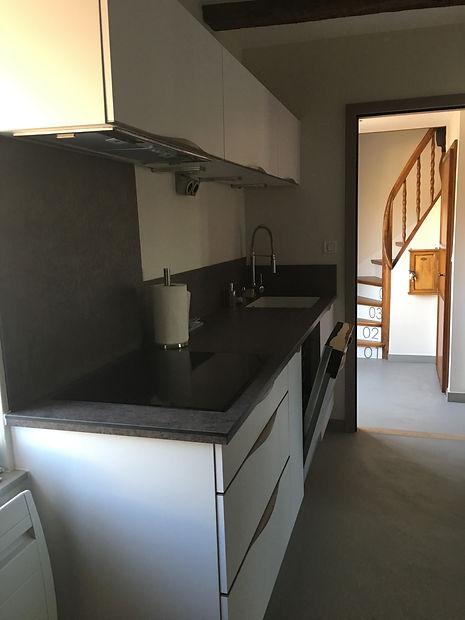 Renovation/Duplex/Colombage/Architecte d'interieur/java decorateurs/Tendance/Habitat/Beton cire/Poêle a bois/Cuisine/Cuisiniste/Sur mesure