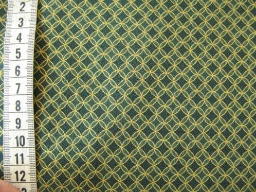 Grøn bund med guld mønster