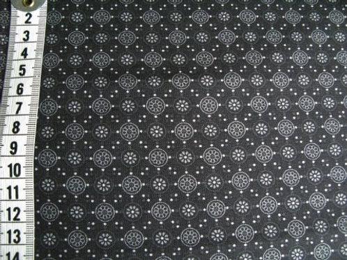 Sort bund m. mønster i grå