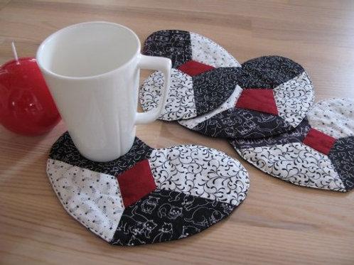Hjerte kaffebrik m firkant i midten