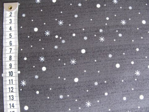 Meget mørk grå bund m. lyse pletter og stjerner