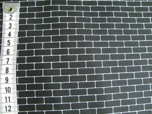 """Sort bund m. lys """"murstens mønster"""""""