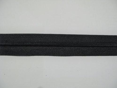 Lynlås i metermål - sort