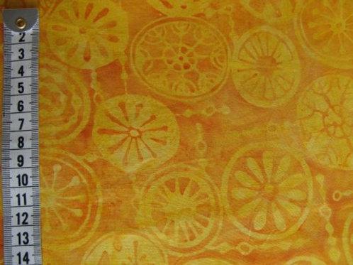 Mørk gul bund m. lysere gul mønster - bali