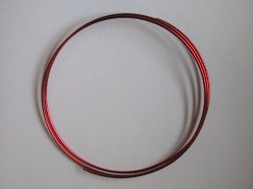 Dekorationstråd rød, 2 mm tyk - 1 m