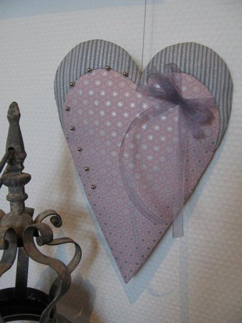 Hjerte m. perler og bånd
